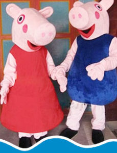 Hire Peppa Pig and George to your kids party