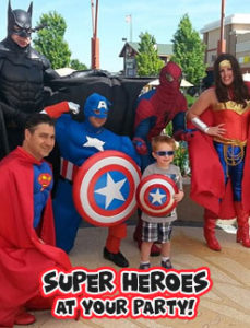 super hero live event entertainers