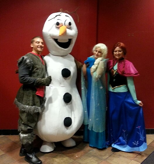 Frozen Costume Character Event Entertainers