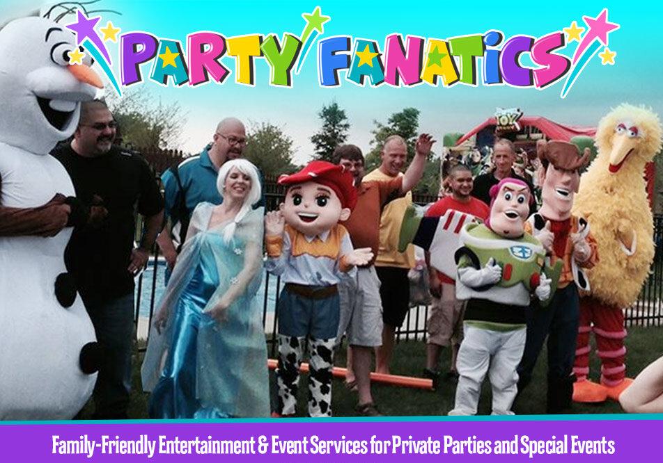 Party Fanatics Costumed Characters Backyard Birthday Party
